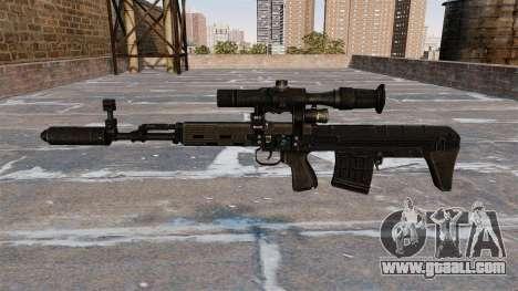 SVD sniper rifle shortened for GTA 4 third screenshot
