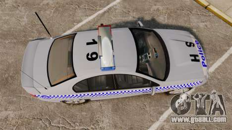 Ford Falcon XR8 Police Western Australia [ELS] for GTA 4 right view