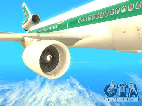 McDonnell Douglas MD-11 Alitalia for GTA San Andreas right view
