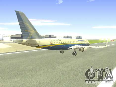 Embraer 175 HOUSE for GTA San Andreas upper view