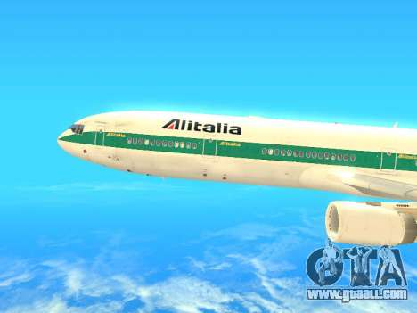 McDonnell Douglas MD-11 Alitalia for GTA San Andreas left view