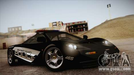 McLaren F1 Police Edition for GTA San Andreas