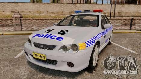 Ford Falcon XR8 Police Western Australia [ELS] for GTA 4