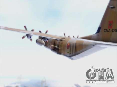 C-130 Hercules Royal Moroccan Air Force for GTA San Andreas back view