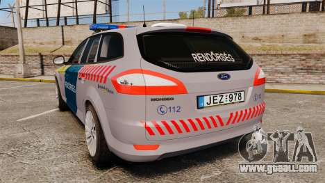 Ford Mondeo Hungarian Police [ELS] for GTA 4 back left view