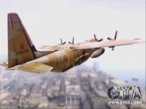 C-130 Hercules Royal Moroccan Air Force for GTA San Andreas right view