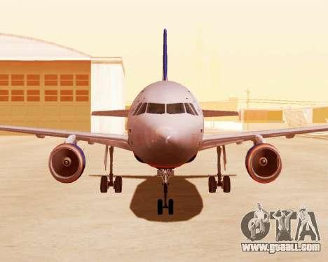 Airbus A320-200 Aeroflot for GTA San Andreas left view