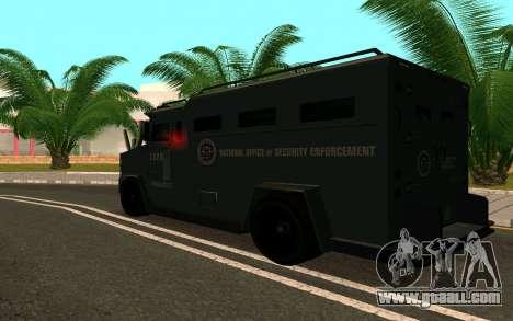 GTA V Police Riot for GTA San Andreas back view