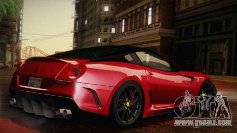 Ferrari 599 GTO 2011 for GTA San Andreas left view