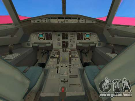 Airbus A320-200 WizzAir for GTA San Andreas inner view