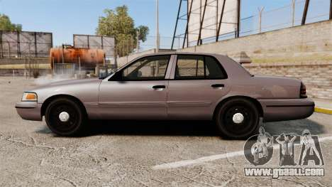 Ford Crown Victoria 2008 LCPD Detective [ELS] for GTA 4 left view