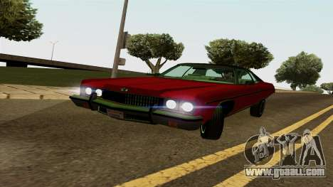 Chevrolet Caprice Coupe 1973 for GTA San Andreas left view