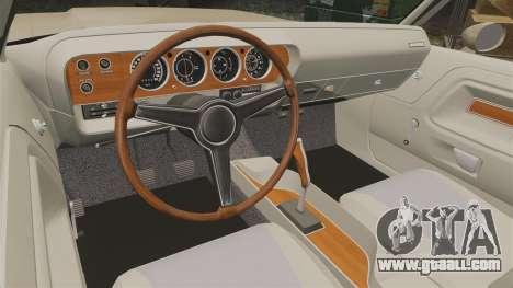 Dodge Challenger RT 1972 for GTA 4 inner view