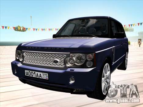 Land Rover Supercharged Stock 2010 V2.0 for GTA San Andreas left view