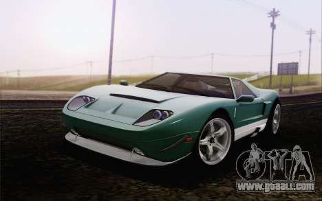 Vapid Bullet GT из GTA 5 for GTA San Andreas back left view