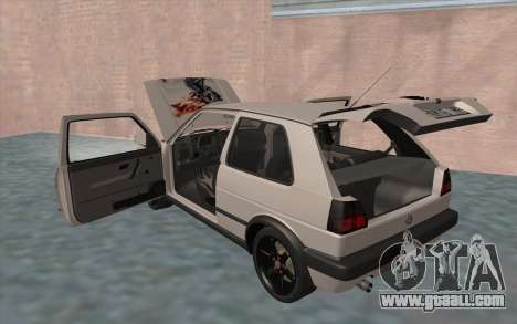 Volkswagen Golf 2 for GTA San Andreas bottom view