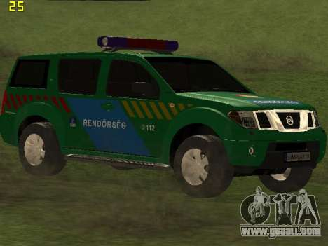 Nissan Pathfinder Police for GTA San Andreas back view
