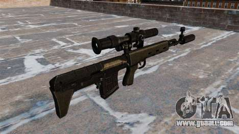 SVD sniper rifle shortened for GTA 4 second screenshot