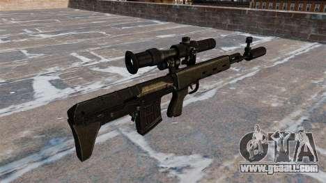 SVD sniper rifle shortened for GTA 4 second screenshot