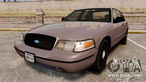 Ford Crown Victoria 2008 LCPD Detective [ELS] for GTA 4