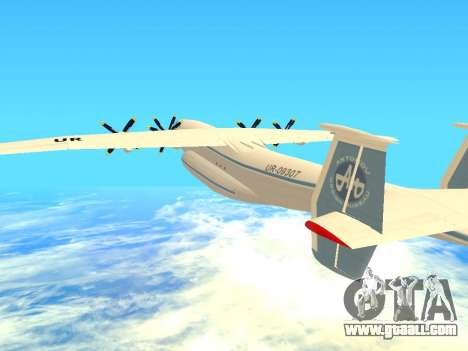 An-22 Antei for GTA San Andreas side view