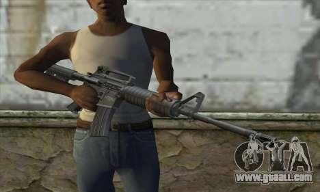 M4A1 for GTA San Andreas third screenshot