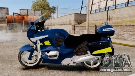 BMW R1150RT Gendarmerie [ELS] for GTA 4 left view