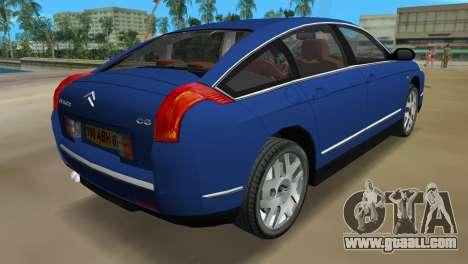 Citroen C6 for GTA Vice City back left view