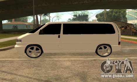 Volkswagen T4 Transporter for GTA San Andreas left view