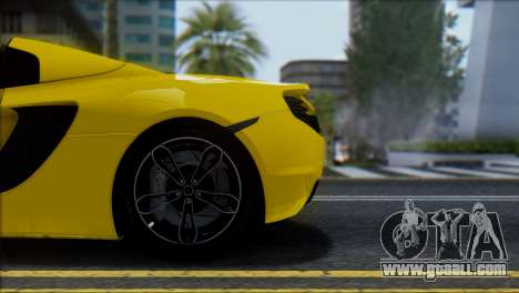 McLaren MP4-12C Spider for GTA San Andreas side view