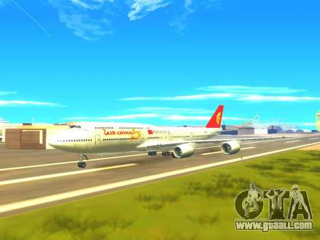 Boeing 747 Air China for GTA San Andreas bottom view