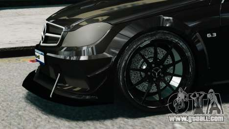 Mercedes-Benz C63 AMG Black Series 2012 for GTA 4 right view
