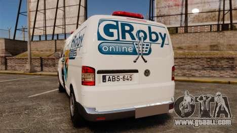 Volkswagen Transporter T5 Groby Netshop [ELS] for GTA 4 back left view