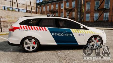 Ford Focus 2013 Hungarian Police [ELS] for GTA 4 left view