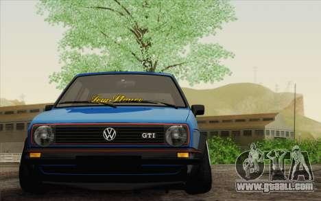 Volkswagen Golf MK2 LowStance for GTA San Andreas back left view