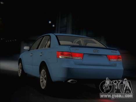Hyundai Sonata 2009 for GTA San Andreas right view
