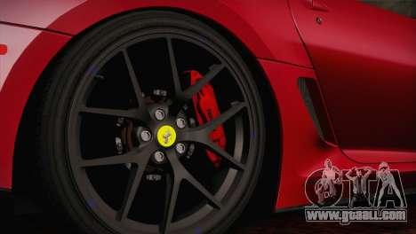 Ferrari 599 GTO 2011 for GTA San Andreas right view