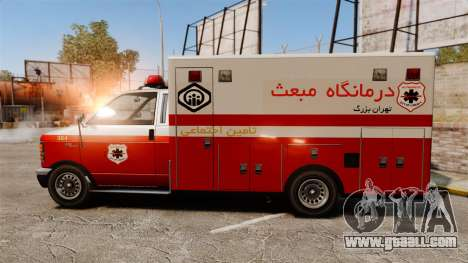 Iranian paint ambulance for GTA 4 left view