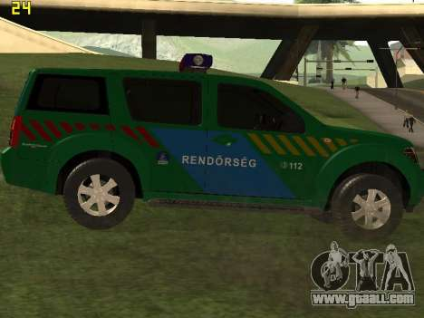 Nissan Pathfinder Police for GTA San Andreas right view