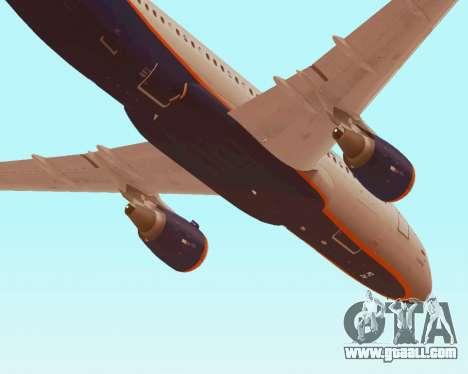 Airbus A320-200 Aeroflot for GTA San Andreas interior