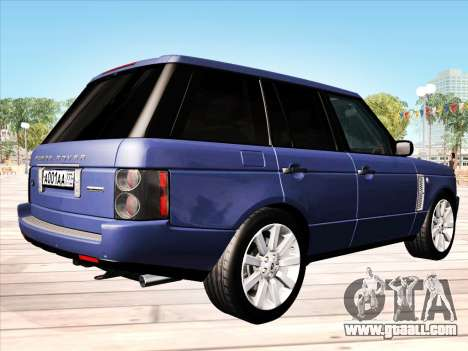 Land Rover Supercharged Stock 2010 V2.0 for GTA San Andreas right view