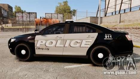 Ford Taurus LCPD Interceptor 2011 [ELS] for GTA 4 left view