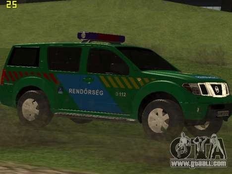 Nissan Pathfinder Police for GTA San Andreas inner view