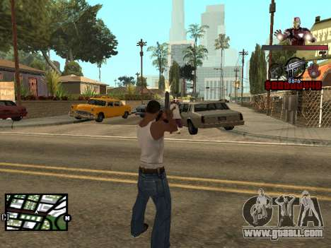 C-HUD Iron man for GTA San Andreas third screenshot
