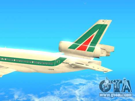 McDonnell Douglas MD-11 Alitalia for GTA San Andreas inner view