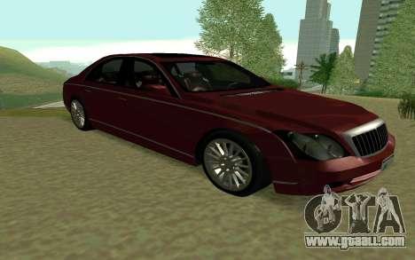 Maybach 57 TT Black Revel for GTA San Andreas back left view