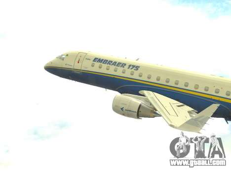 Embraer 175 HOUSE for GTA San Andreas left view