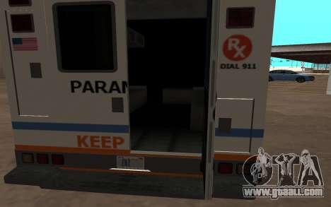 GTA 5 Ambulance for GTA San Andreas left view