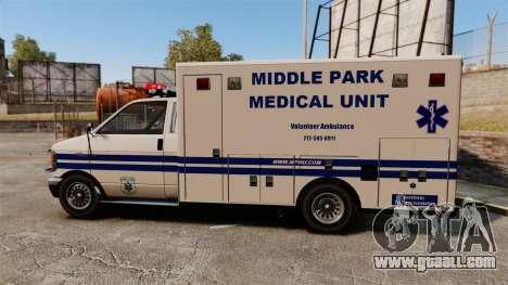 Brute MPMU Ambulance for GTA 4 left view