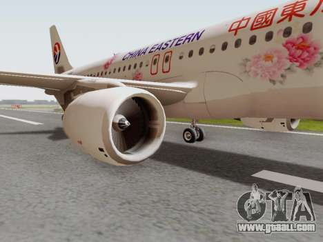 Airbus A320-211 China Eastern for GTA San Andreas back view